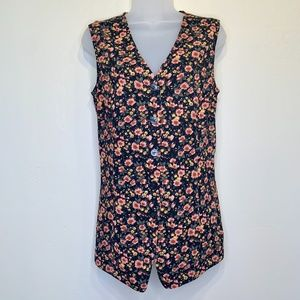 Express   90's VTG Floral Sleeveless Back Tie Top